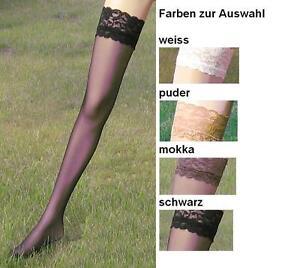rot Satinglanz feine Spitze 40-42  *MY way* EDEL Straps-Strümpfe 20den