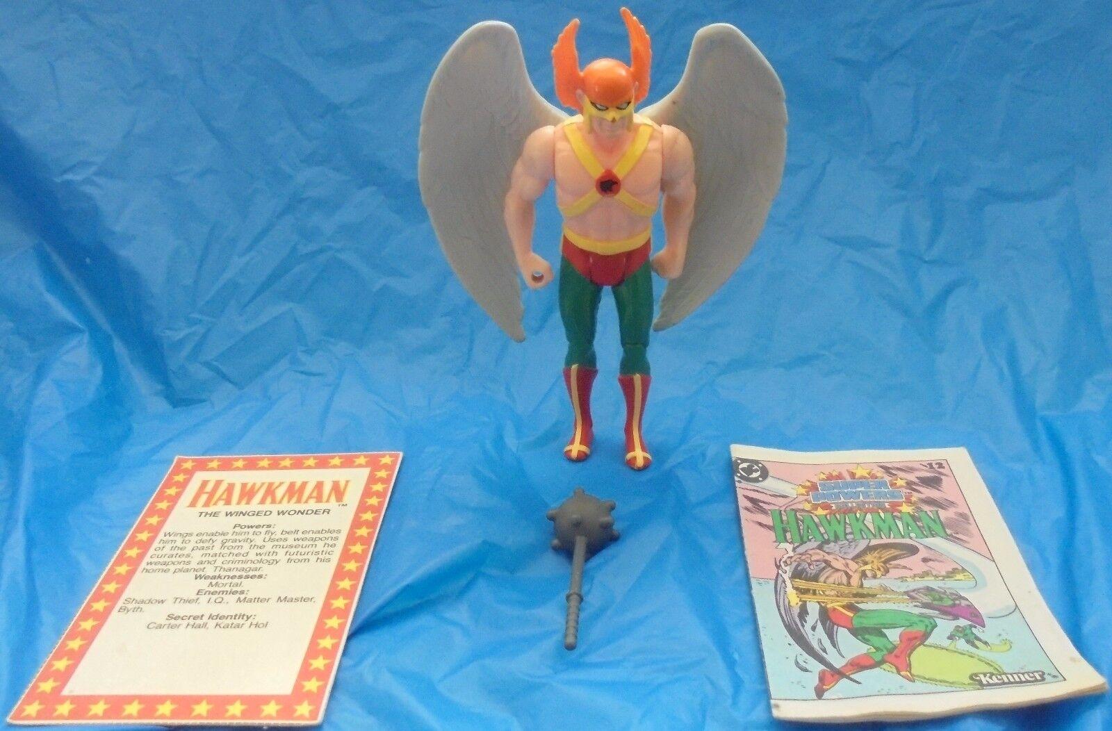 DC Super Powers Hawkman Action Figure Complete Mace File Card Mini Comic 1984