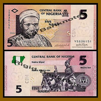 Nigeria 2006 UNC /> Tribal Drummers P-32a 5 naira 32