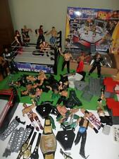 WWE Smack Down Wrestling ARENA Wrestler Mini Belt Stone Cold Figures Blocks LOT