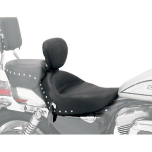 Details about Mustang Wide Studded Solo Seat w/ Backrest 2004-19 Harley  Sportster 3 3 Gal Tank