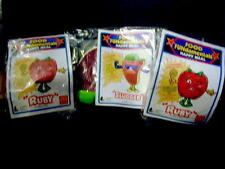 """McDonald's 1992 Lot of 3 Food FUNdamentals Happy Meal Toys """"Ruby"""" and """"Slugger"""""""