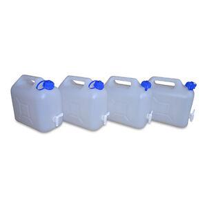 Ablasshahn lebensmittelecht NEU 4 x 15 L Trinkwasserkanister Camping natur inkl