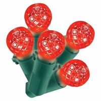 Philips Led Red Faceted Sphere Indoor/outdoor Lights - 60 Bulbs