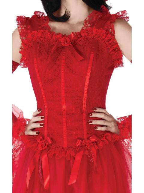 Fire /& Brimstone Bustier Costume Halloween Fancy Dress