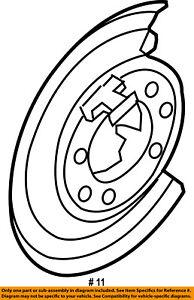 ford oem rear brake backing plate splash dust shield 5c3z2b636ba ebay 1946 Ford VIN Plate image is loading ford oem rear brake backing plate splash dust