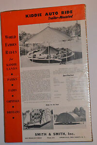 VINTAGE 1950s KIDDIE AUTO RIDE ADVERTISING POSTER! CARNIVAL RIDE! CHAIRPLANE!