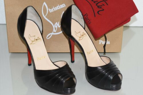 4b272dcbe75d 7 of 12 NEW Christian Louboutin ARMADILLO 120 Leather Black Platform Shoes  37.5 39 40