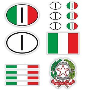 Details Zu Italien Italy 14x Aufkleber Autoaufkleber Flagge Nationalitätenkennzeichen Helm