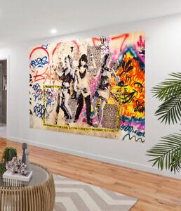 "by jane crawford Art Print canvas artwork painting original 32 /"" black"