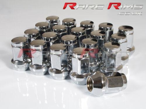 20 x RUOTA CROMATO hex nuts M12x1.5 per Mitsubishi Lancer Eclipse Pajero Pinin