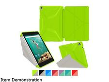 roocase Origami 3D Slim Shell Case for Nexus 9 Tablet, Electric Green / Cool Gra