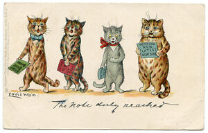 Louis-Wain-Cat-539-II-034-The-Note-Duly-Reached-034-Cats-Singing