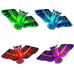 Classic-3D-Owl-Kite-Ids-Toy-Fun-Outdoor-Flying-Activity-Game-Children-With-Tail