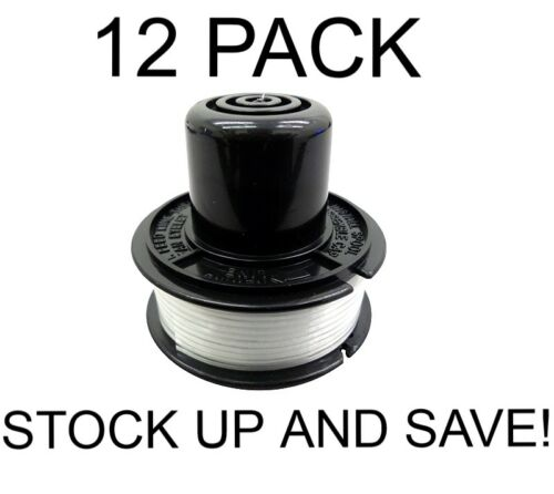 Replacement Trimmer Line 12 Spool Pack for Black /& Decker RS-136-BKP