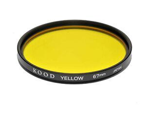 100% De Qualité 67 Mm Kood Haute Qualité Filtre Jaune Made In Japan Filtre Jaune 67 Mm 1/2 Stop-afficher Le Titre D'origine