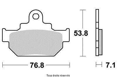 Plaquettes de frein arrière Suzuki VL 1500 Intruder 1998 à 2001 S1006A
