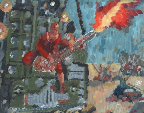 "11x14/"" Abstract Mad Max Fury Road Metal Guitarist Wall Art Print Doof Warrior"
