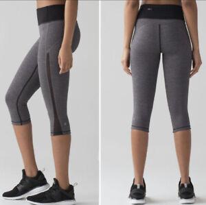 Lululemon-Size-6-Smooth-Stride-Crop-Black-Grey-Luxtreme-Mesh-Laser-Cut-Scallop