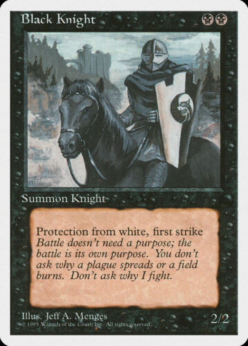 Black Knight Fourth Edition Uncommon EN NM MTG