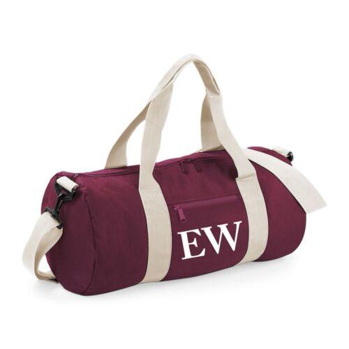 Custom Initial Barrel Bag Sport Gym Swim Yoga Dance Swimming Personalised School