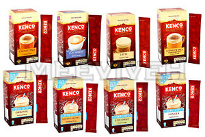 Details About Kenco Instant Coffee Iced Hot Packs 8 Sachets Vanilla Cappuccino Coconut