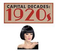 Charleston Flapper Black Bob Wig Flapper Great Gatsby 1920s Fancy Dress Moll