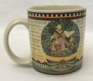 Debbie-Mumm-Sakura-12-Days-of-Christmas-Mug-8-Maids-a-Milking-Coffee-Tea-Cocoa
