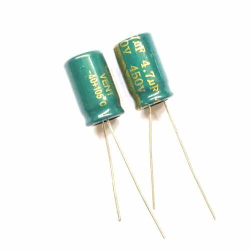 Electrolytic Capacitor 450V 2.2uF 4.7uF 6.8uF 10uF 22uF 33uF 47uF 68uF 82uF MFD