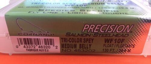 Cortland Precision Tri Color Spey Salmon Steelhead Medium Belly WF10F