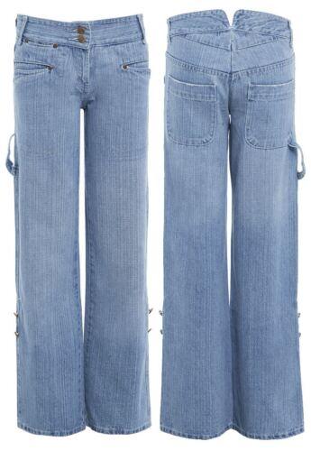 Para mujer Boy Fit Jean Suelto Denim Blue Jeans Señoras Tamaño 10 12 14 8