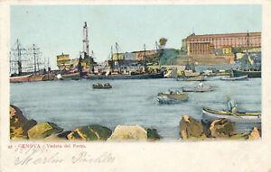 AK-aus-Genova-Veduta-del-Porto-mit-Schiffen-Italien-J4