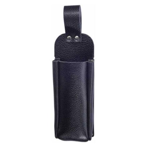 Mehrzwecktasche schwarz Leder Gürteltasche Arbeitskleidung Zunftkleidung Hobby