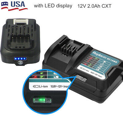 For Makita BL1040B BL1041 10.8v 12v CXT Lithium Ion Slide 5.0ah Battery BL1040