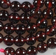 Beautiful nature 6mm Sri Lanka Red Garnet Gemstone Round Loose Bead 15''