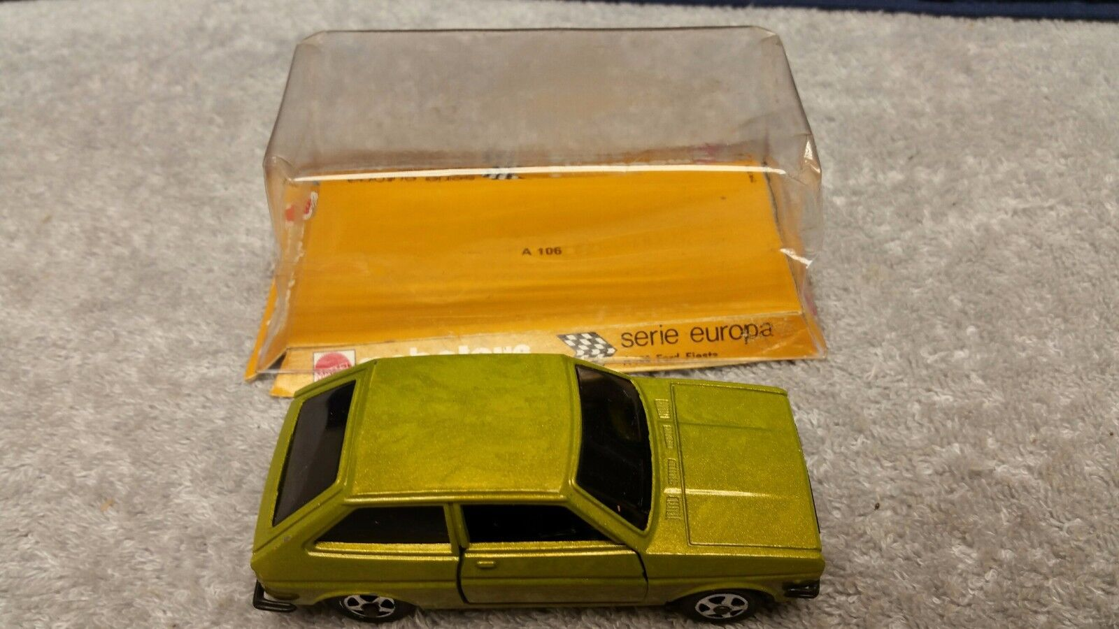 Vintage Mattel Mebetoys Series Europa    A106 Ford Fiesta  in Green Mint Loose bbe139