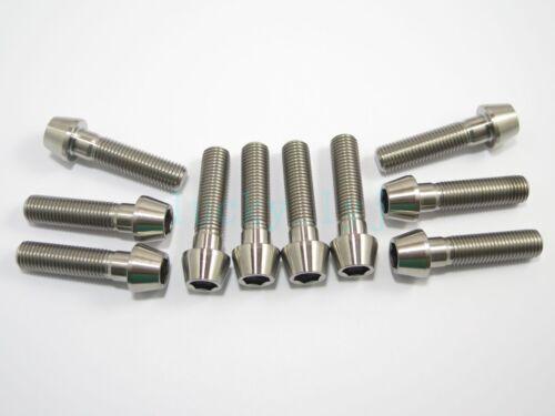 Titanium M10 x 40mm 1.5 Pitch Hex Taper Socket Cap Head Ti Bolts Screw 2//5//8pcs