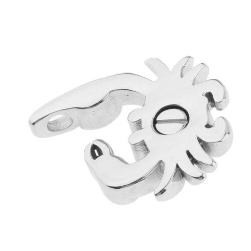 Acier Inoxydable Crabe Animal Forme Urne Cendres Porte-Memorial Souvenir Bijoux