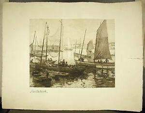Sardine-Boats-IN-Dock-Port-Of-Concarneau-Georges-Maulemouck-Brittany-Marine