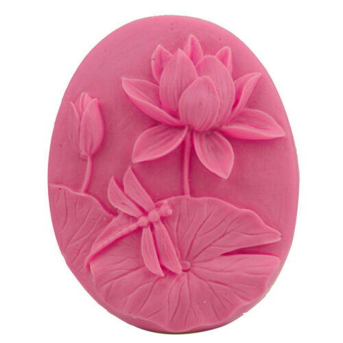 Beautiful Lotus Handmade Soap Candle Mould Cake Chocolate Candy Mold Baking THßß