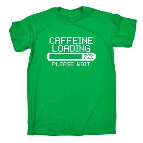 Caffeine Loading T-SHIRT Coffee Espresso Latte Games Retro Gift birthday funny