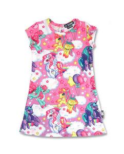 Six Bunnies Long Sleeved Pegasus Pink Dress Kids Kawaii My Little Pony Unicorn