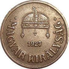 Hungary 2 Filler 1927 BP KM#506 - MAGYAR KIRÁLYSÁG (H-15)