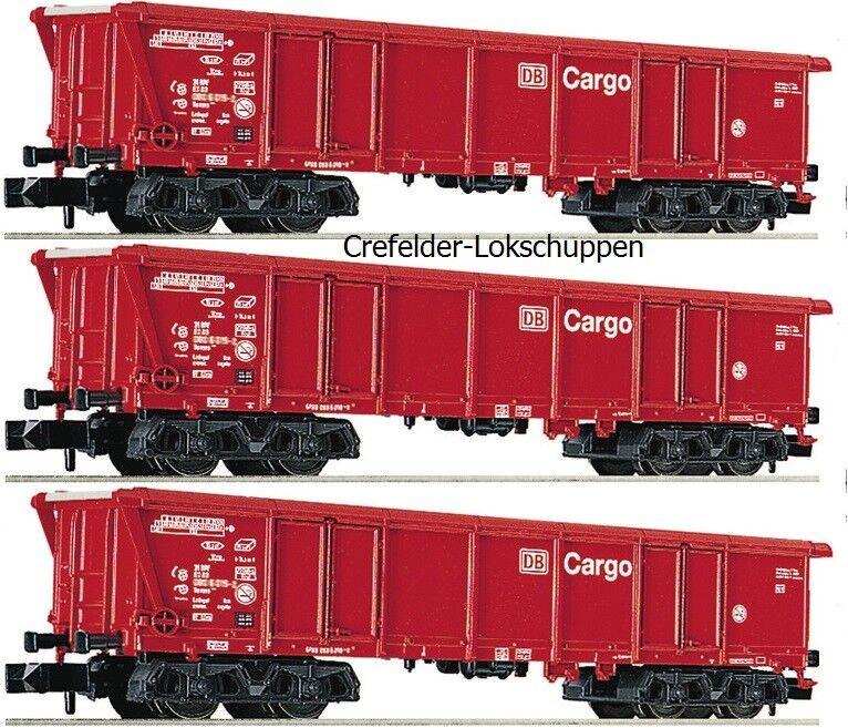 Fleischmann N 829351+829352+829353 3 Roll CARRELLO TETTO Tamns 886 DB CARGO EP 5 neu&ov