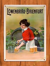 "TIN-UPS TIN SIGN ""Lowenbrau"" Vintage Ale Alcohol Bar Rustic Wall Decor"