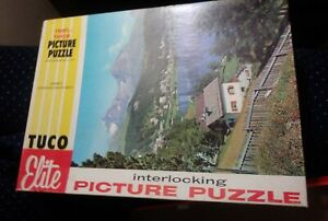 Picture-Puzzle-TUCO-Switzerland-ST-MORITZ-Factory-SEALED-1950s-HOME-HOBBIES