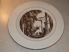 """PICKARD CHINA COLLECTOR PLATE PAUL BUNYON 10 /4"""" GOLD TRIMMED EXCELLENT"""