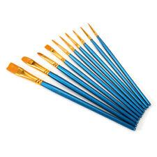 10pcs Artist Paint Brushes Set Kit Lot Oil Watercolour Painting Craft Art Model
