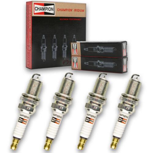 4 pc Champion Iridium Spark Plugs for 1990-2005 Mazda Miata 1.8L L4 Pre fi