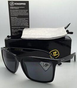 bc43224380 Image is loading Wildlife-Polarized-VONZIPPER-Sunglasses-VZ-LESMORE-Shiny- Black-